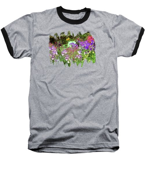 Baseball T-Shirt featuring the photograph Hiding In The Garden by Thom Zehrfeld
