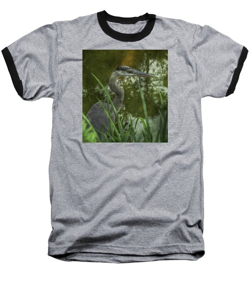 Hiding In The Grass Baseball T-Shirt by Arlene Carmel