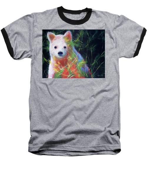 Baseball T-Shirt featuring the painting Hiding In The Vines by Angela Treat Lyon