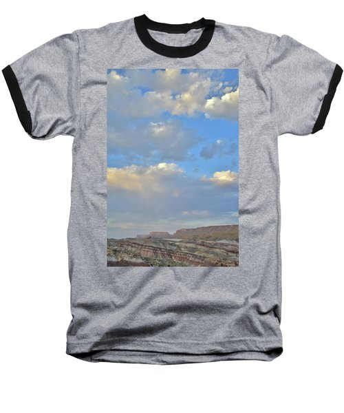 High Clouds Over Caineville Wash Baseball T-Shirt