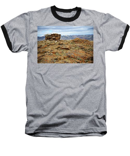 High Desert Cairn Baseball T-Shirt by Eric Nielsen