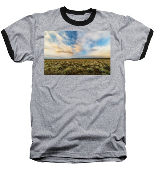 Baseball T-Shirt featuring the photograph High Desert Morning by Ryan Manuel