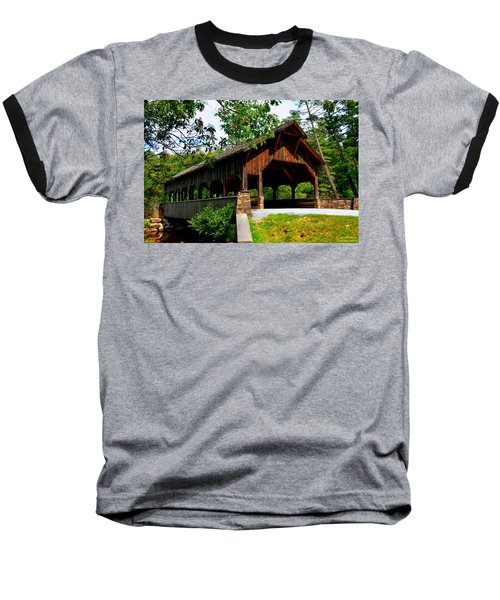 High Falls Covered Bridge Baseball T-Shirt