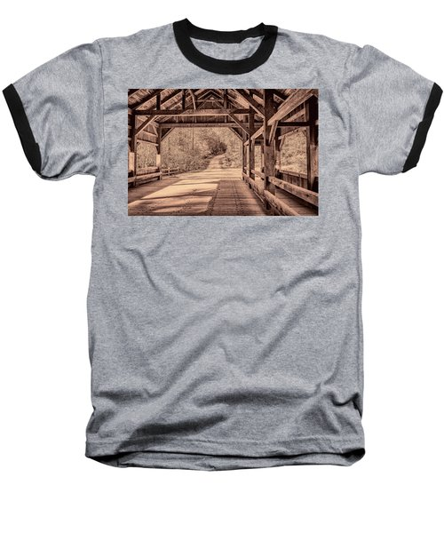 High Falls Covered Bridge Baseball T-Shirt