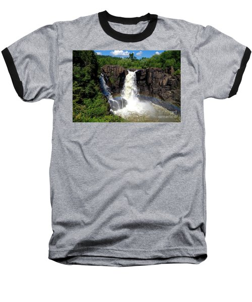 High Falls On Pigeon River Baseball T-Shirt