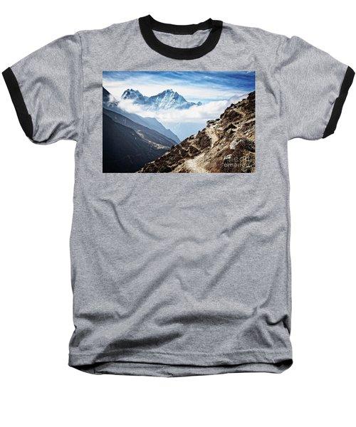 High In The Himalayas Baseball T-Shirt