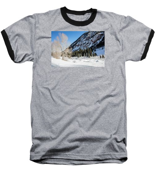 High In The Rockies Before Independence Pass Baseball T-Shirt