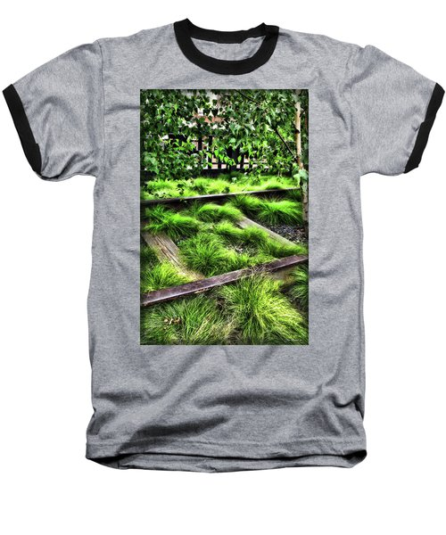 High Line Nyc Railroad Tracks Baseball T-Shirt by Joan  Minchak