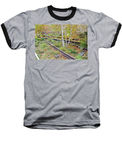 High Line Print 2 Baseball T-Shirt by Terry Wallace