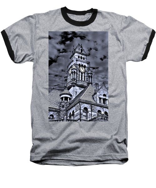 Baseball T-Shirt featuring the photograph High Noon Black And White by Tamyra Ayles
