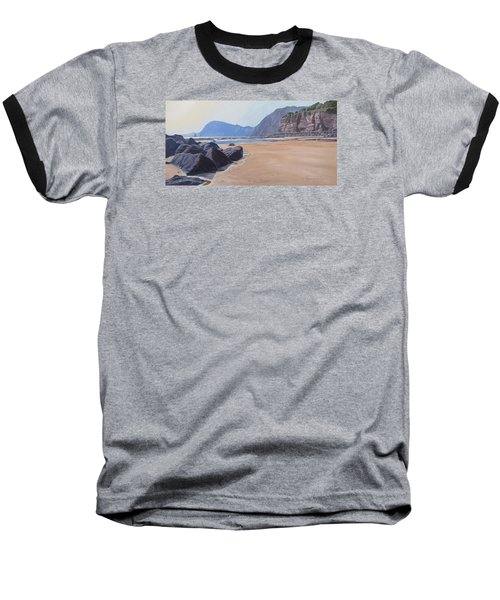 High Peak Cliff Sidmouth Baseball T-Shirt