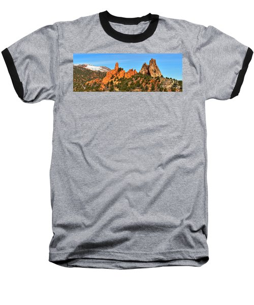 Baseball T-Shirt featuring the photograph High Point Panorama At Garden Of The Gods by Adam Jewell