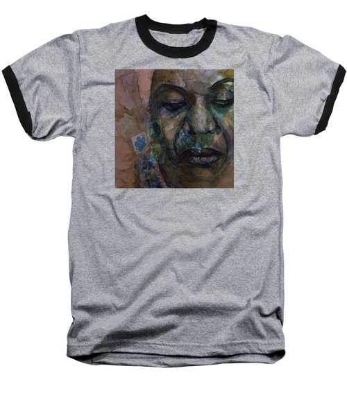 Baseball T-Shirt featuring the painting High Priestess Of Soul  by Paul Lovering