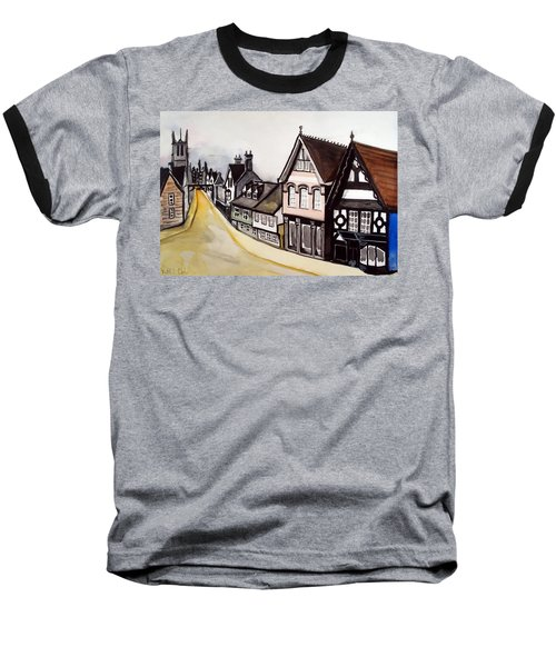 High Street Of Stamford In England Baseball T-Shirt by Dora Hathazi Mendes