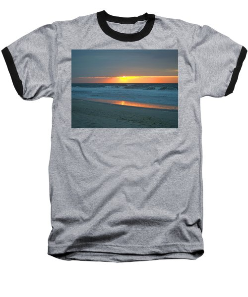 High Sunrise Baseball T-Shirt by  Newwwman