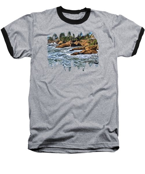 High Tide At Arch Rock Baseball T-Shirt