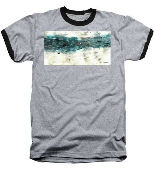 Baseball T-Shirt featuring the painting High Tide by Carmen Guedez