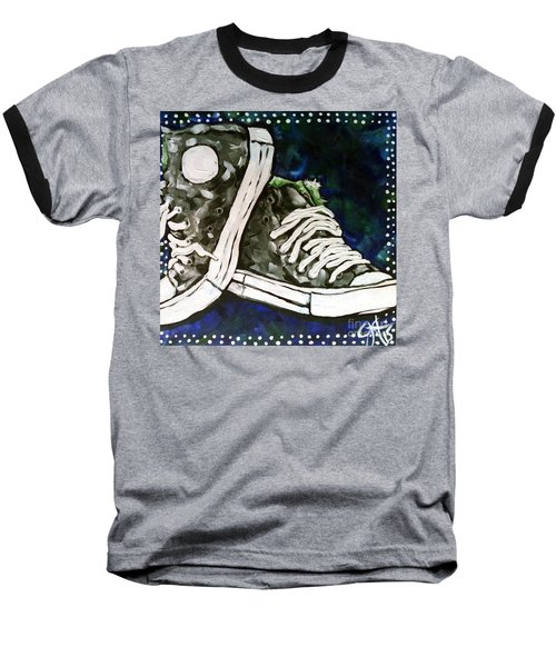 High Top Heaven Baseball T-Shirt by Jackie Carpenter