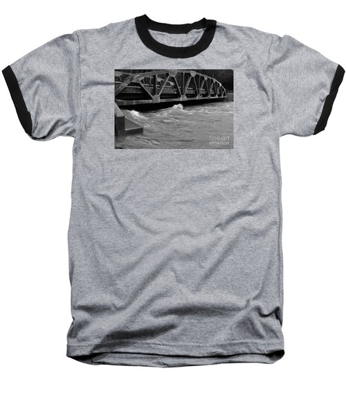 Baseball T-Shirt featuring the photograph High Water by Randy Bodkins