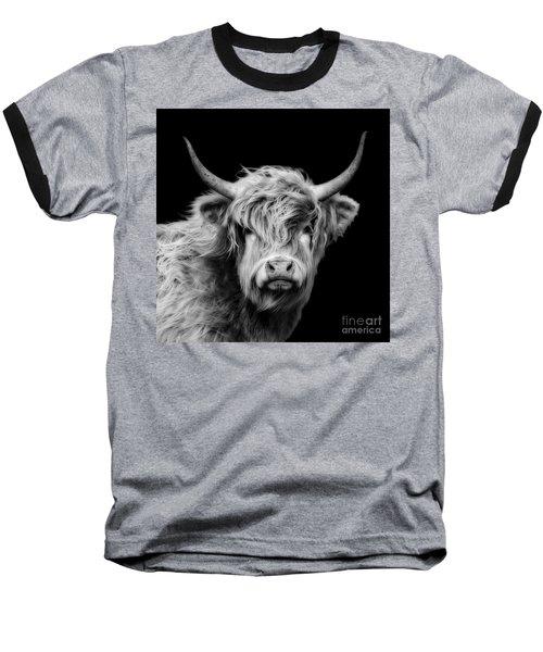 Highland Cow Portrait Baseball T-Shirt