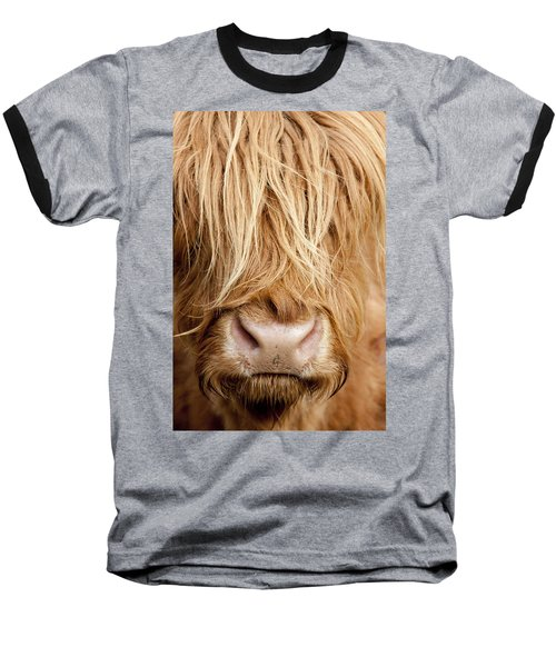 Highland Cow Baseball T-Shirt