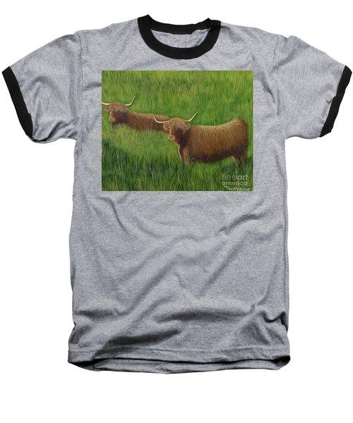 Highland Cows Baseball T-Shirt