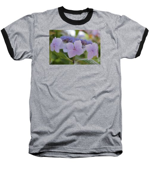 Highlands Hydrangea Baseball T-Shirt by Amy Fearn