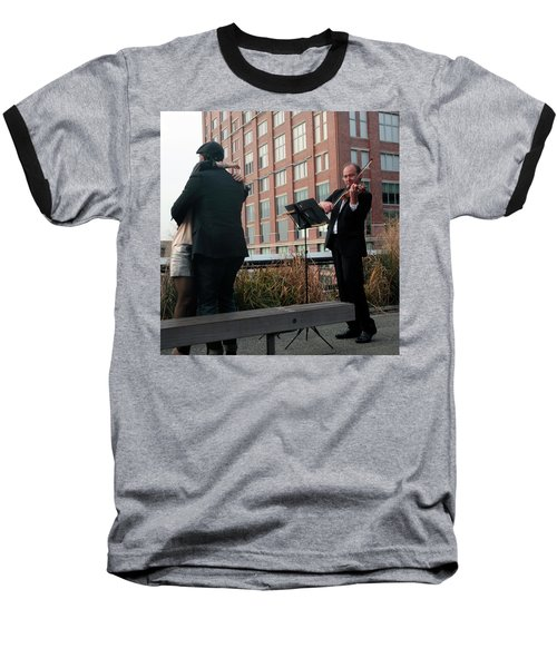 Baseball T-Shirt featuring the photograph Highline Serenade by Madeline Ellis
