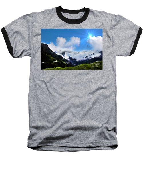 Baseball T-Shirt featuring the photograph Highway Through The Andes - Painting by Al Bourassa