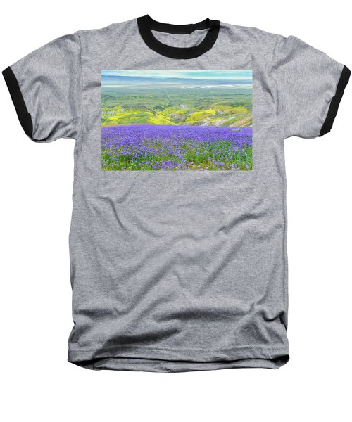 Hike To The Top Of Temblor Range Baseball T-Shirt by Marc Crumpler