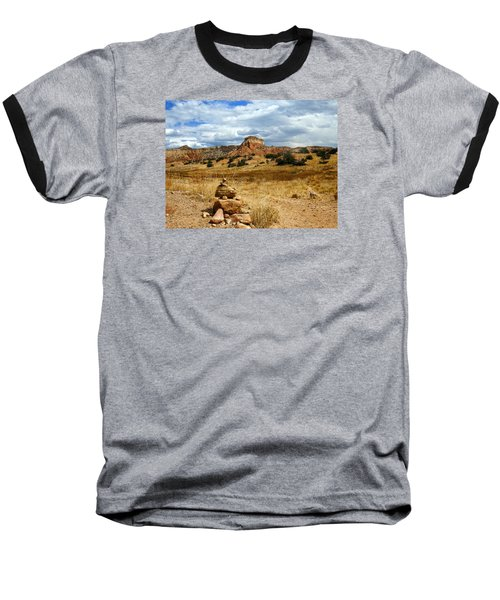 Baseball T-Shirt featuring the photograph Hiking Ghost Ranch New Mexico by Kurt Van Wagner