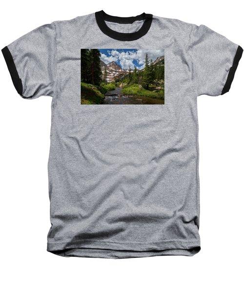 Hiking Into A High Alpine Lake Baseball T-Shirt by Michael J Bauer