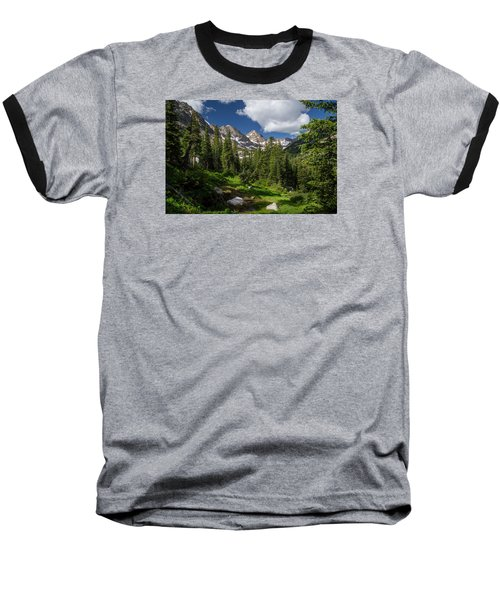 Hiking Into The Gore Range Mountains Baseball T-Shirt by Michael J Bauer