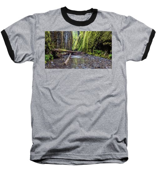 Hiking Oneonta Gorge Baseball T-Shirt