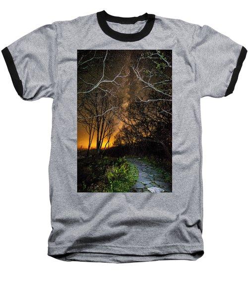 Hiking The Milky Way Baseball T-Shirt