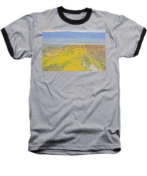 Hiking The Temblor Baseball T-Shirt by Marc Crumpler
