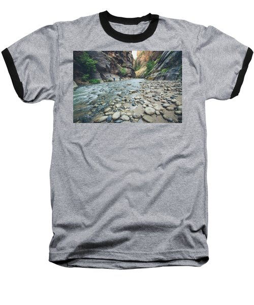Baseball T-Shirt featuring the photograph Hiking The Virgin River by Margaret Pitcher
