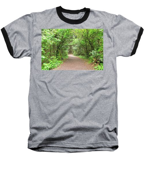 Hiking Trail Along Lewis And Clark River Baseball T-Shirt