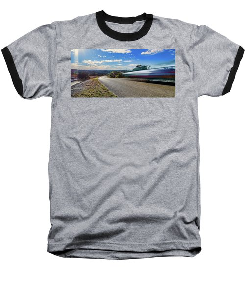 Hill Country Back Road Long Exposure Baseball T-Shirt