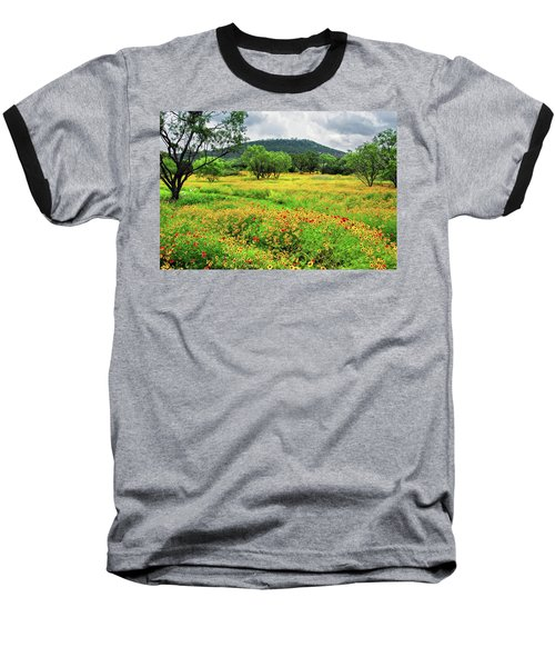 Hill Country Wildflowers Baseball T-Shirt