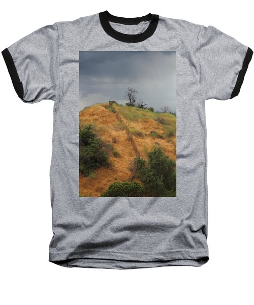 Hill Divided By Fence Baseball T-Shirt