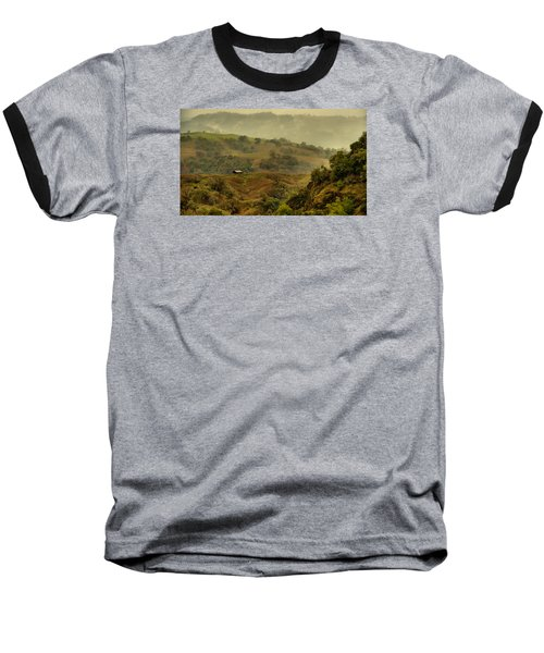 Hills Above Anderson Valley Baseball T-Shirt by Josephine Buschman