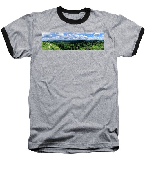 Hills And Clouds Baseball T-Shirt