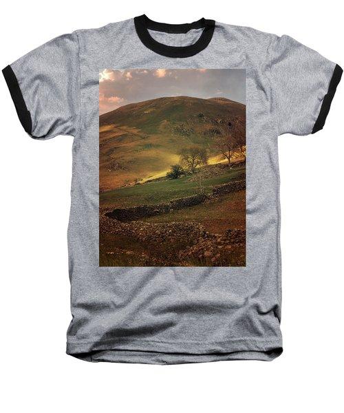 Hills Of Scotland At The Sunset Baseball T-Shirt by Jaroslaw Blaminsky