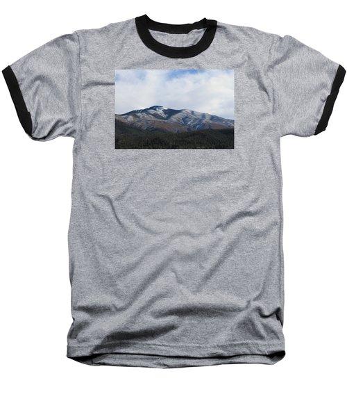 Hills Of Taos Baseball T-Shirt by Christopher Kirby