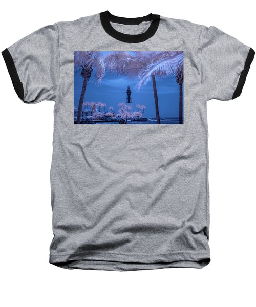Baseball T-Shirt featuring the photograph Hillsboro Inlet Lighthouse Infrared by Louis Ferreira