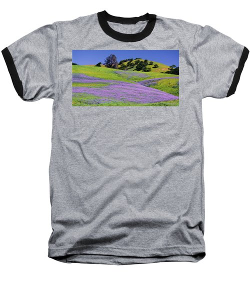 Hillside Carpet Baseball T-Shirt by Josephine Buschman