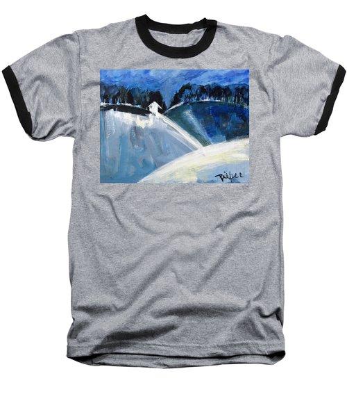 Hillside In Winter Baseball T-Shirt
