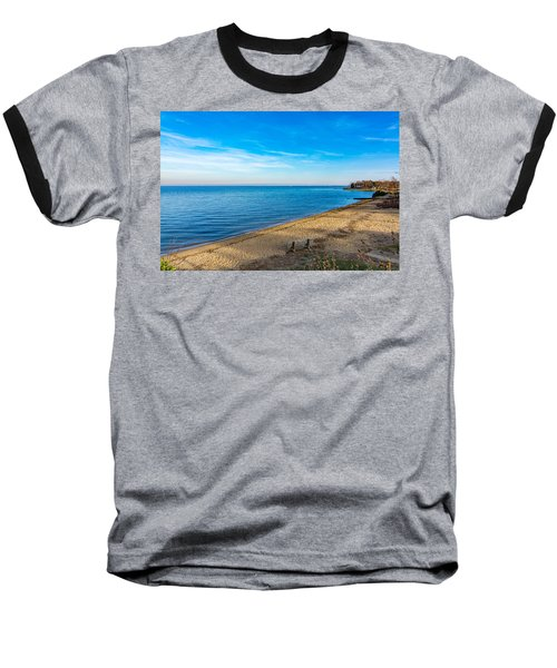 Baseball T-Shirt featuring the photograph Hillsmere Beach On The Chesapeake by Charles Kraus