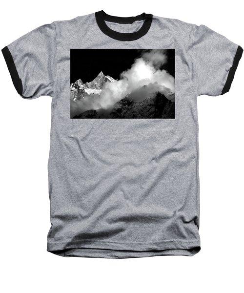 Himalayan Mountain Peak Baseball T-Shirt